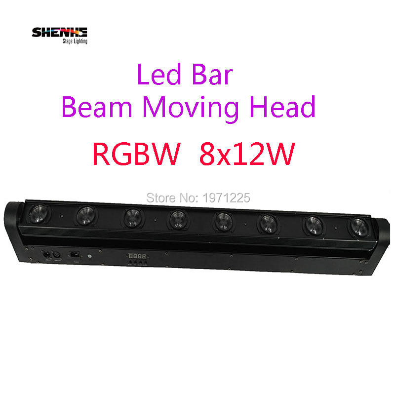 Fast Shipping 8x12W RGBW Multicolor LED Bar Beam Moving Head Light For DJ S Sets Venue