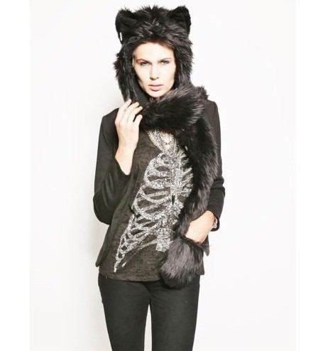 2016ของขวัญChirsmasใหม่รัสเซียที่อบอุ่นFauxขนหมวกน่ารักสัตว์หมาป่าเสือเก๋งผ้าพันคอหมวกถุงมือชุดฤ...