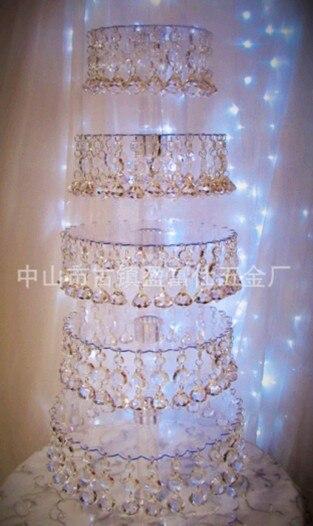 5 слой прозрачный кристалл торт стенд, свадьба день рождения предпочтительны модели, бесплатная доставка