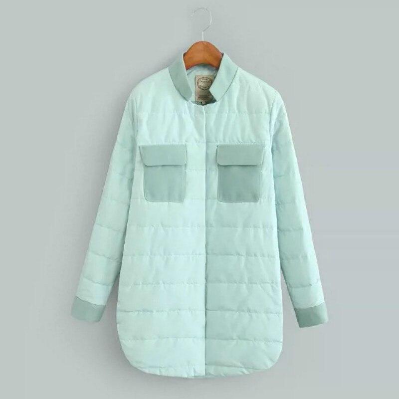 2016 Stitching Thin winter autumn bomber jacket Simple Pink green M XXL Cotton Long Sleeve chaquetas