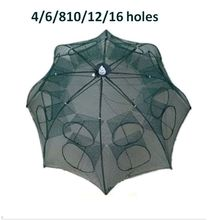 fish trap fish trap net 4/6/8/10/12/16 Holes fishing net trap for fish Folded Portable automatic folding free shipping