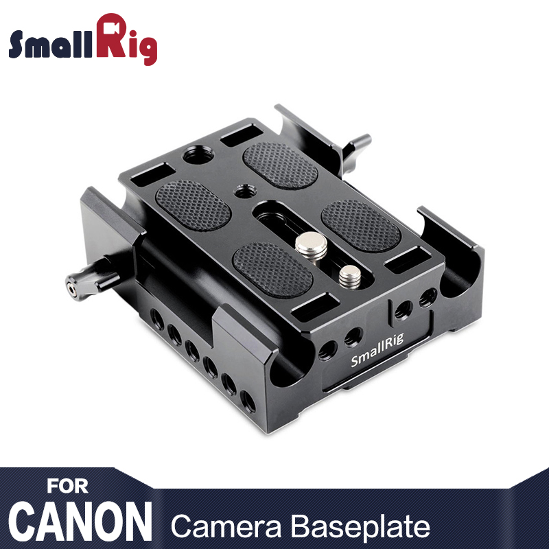 SmallRig Camera BasePlate for Canon EOS C100, EOS C100 Mark II, FS7 with 15 mm Rod Clamp Baseplate-1740 canon eos 1d x mark ii