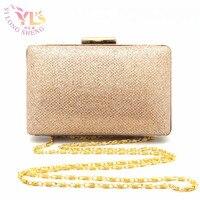 Ladies Square Fashion Hand Clutch Bags Evening Gold/Silver/Black/Blue Evening Handbag Top quality Clutches Purse YLS YJ606102