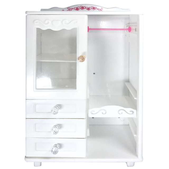 Superieur NK One Set Doll Accessories White Luxury Wardrobe Closet For Barbie Doll  Princess Dream Room Furniture
