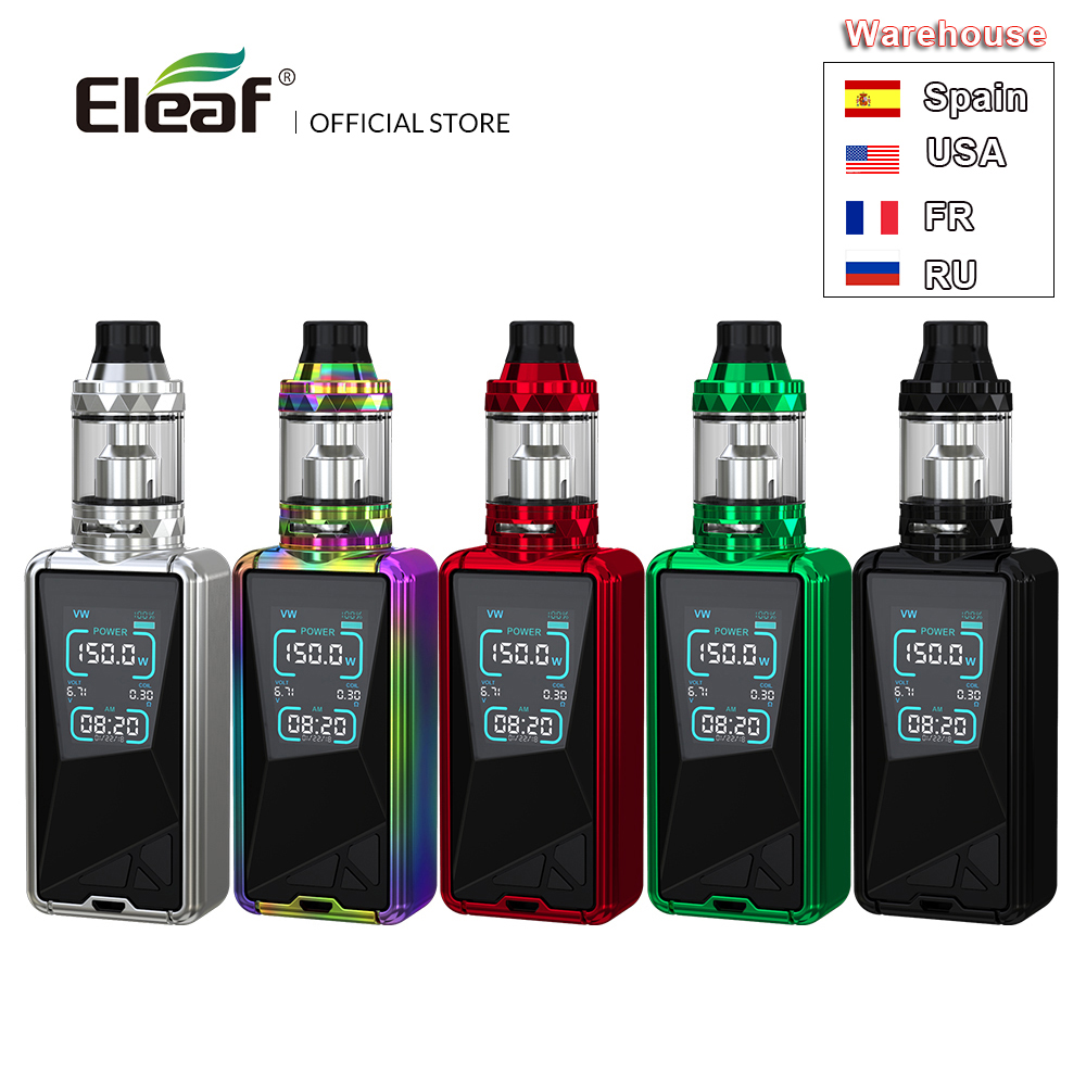 USA FRANCE Warehouse Original Eleaf TESSERA with ELLO TS kit with built in 3400mAh battery 150W