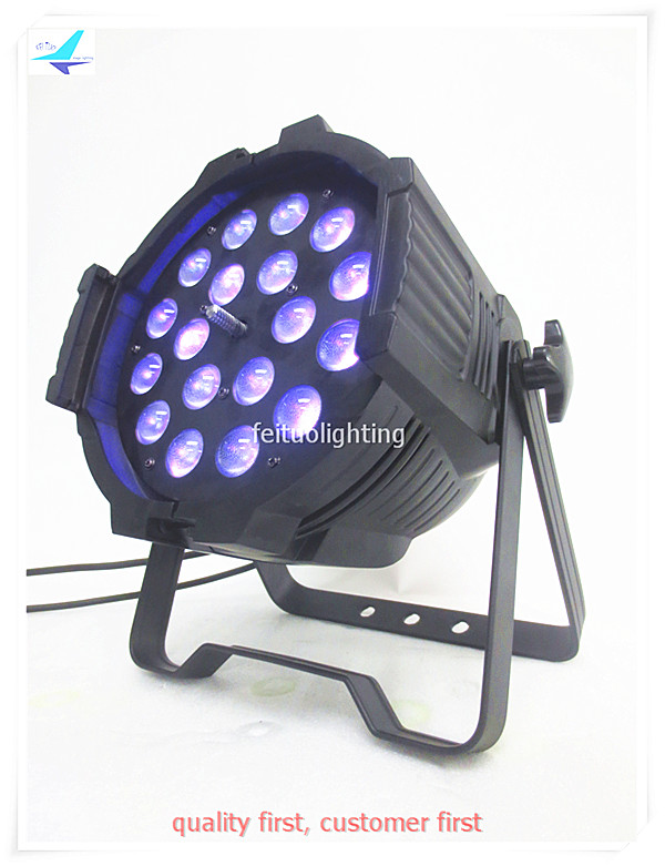 free shipping China 8pcs/lot Stage Wedding Decor Zoom Par Light 18X18w RGBWA UV 6IN1 LED Uplight Power Strobe Par Can DJ Wash