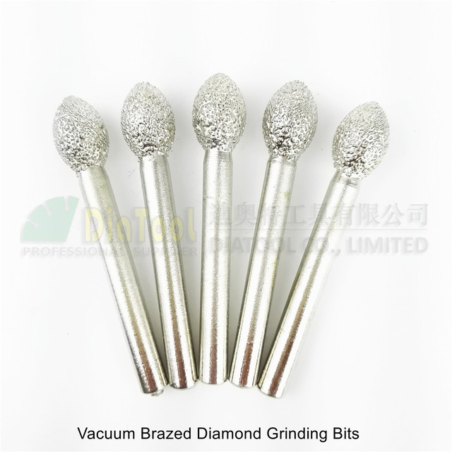 US $9 14 20% OFF|DIATOOL 5pcs #13 Vacuum Brazed Diamond Mounted Points  Diamond Burrs For Stone Rotary Tool Grinding Heads Engraving Bits-in  Abrasive