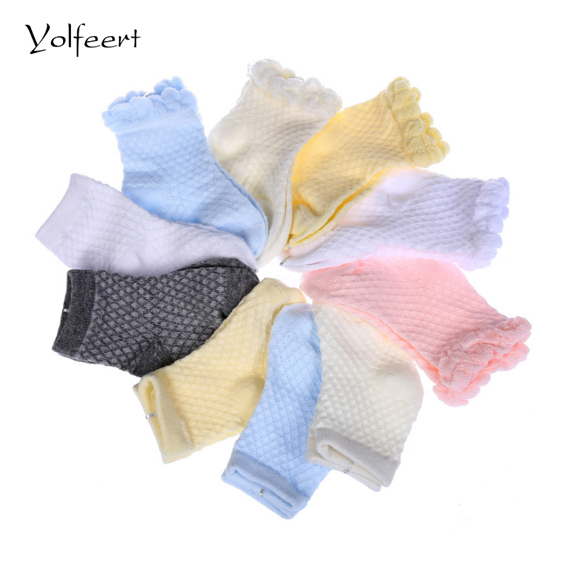 YOLFEERT Breathable Cotton Summer Style Baby Short Socks