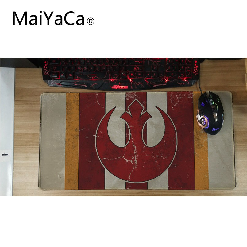 Maiyaca логотип эмблема Звездные войны большой игровой Коврики для мыши прямоугольный замок края Мышь pad