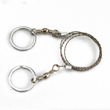Free Shipping 2PCs Outdoor Steel Wire Saw Hand Chain Saw Survival Fretsaw ChainSaw Emergency Camping Hunting Kits Pocket Gear