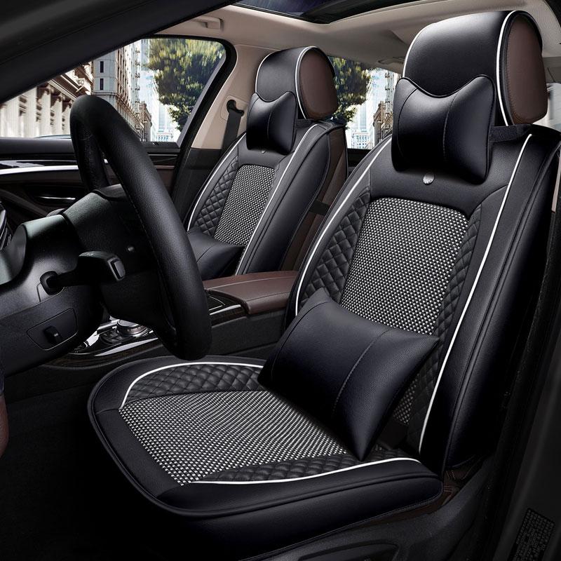 Кожаный чехол для сидения автомобиля универсальный подушка для автомобильного сидения для toyota estima bmw e36 e38 e39 e46 e60 e70 e82 e84 x1 e87 e90 e91 e92 e30