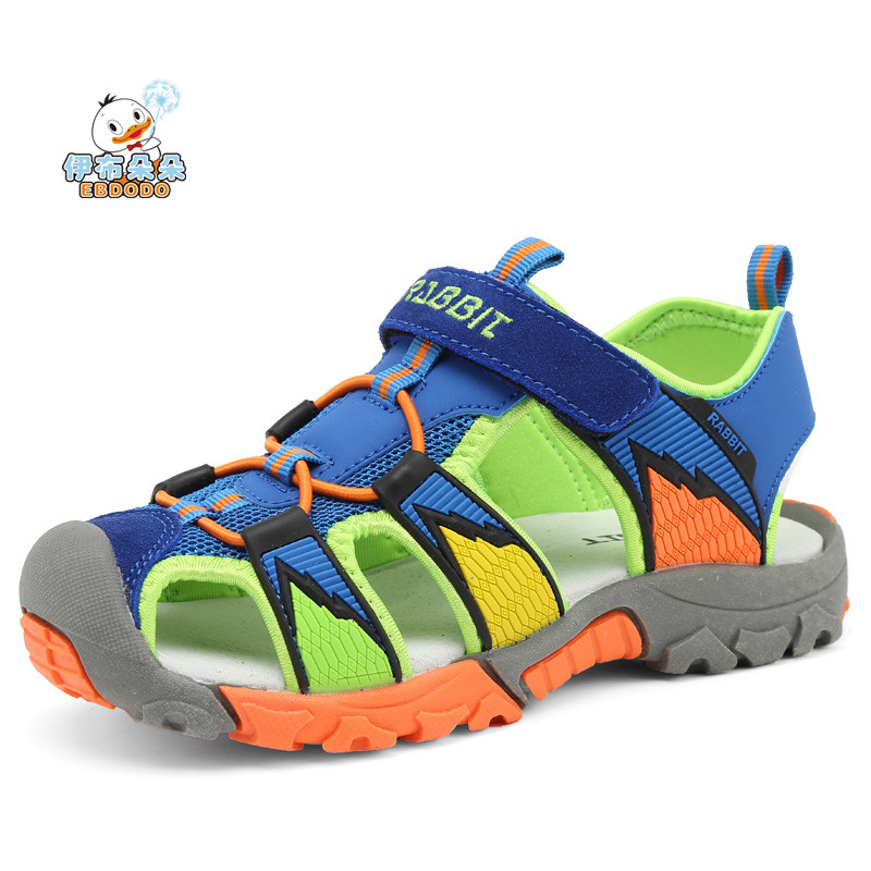 Ebdodo boys sandals Summer new style Children shoes boys fashion cut-outs sandals kids breathable flats shoes
