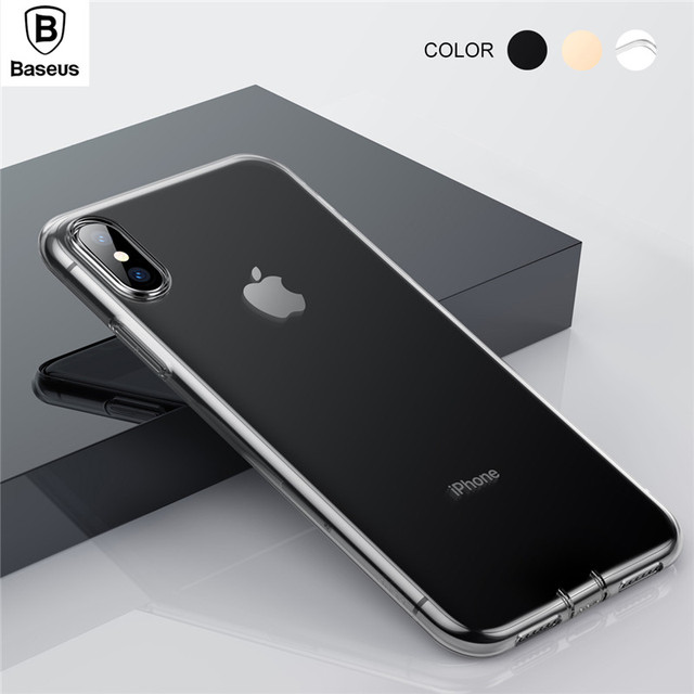 lowest price 72296 46545 US $4.99 |BASEUS Dustproof Soft Case for iPhone Xs XR XS Max Cover  Simplicity Series Clear TPU Case with Dust Plug Capa for iPhone Xs Bag-in  Fitted ...
