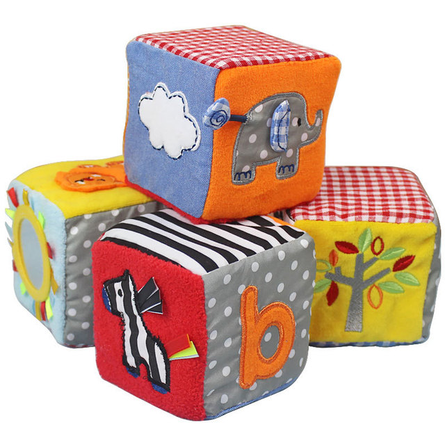 Candice Guo Baby Toy Soft Play Cubes Multi Purpose Cloth Blocks