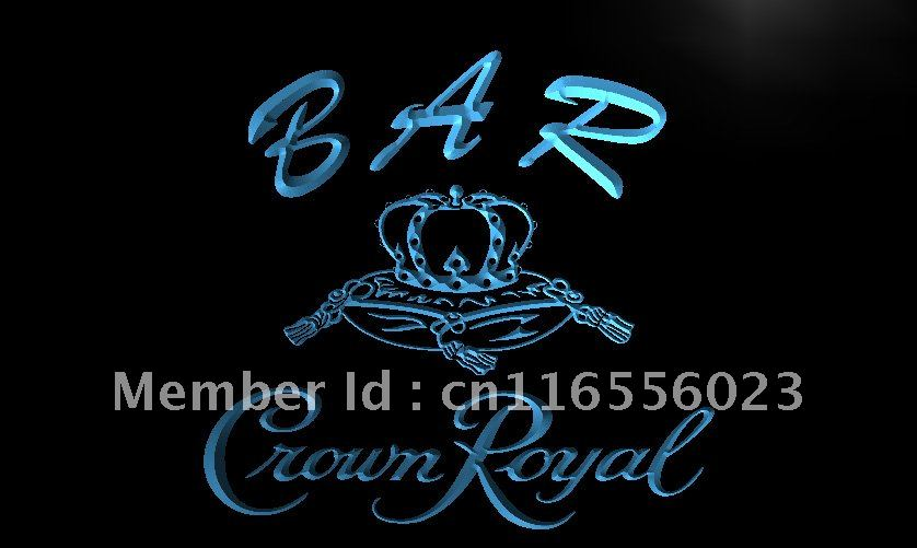 LA454 BAR Crown Royal Beer LED Neon Light Sign home decor