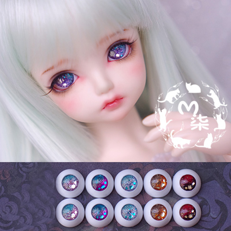 1Pair Retail Mini Doll Accessories High Quality Acrylic 12MM 14MM 16MM   BJD MSD Eyes For BJD Dolls uncle 1 3 1 4 1 6 doll accessories for bjd sd bjd eyelashes for doll 1 pair tx 03