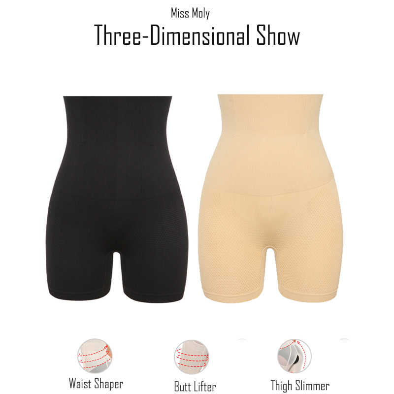6ac801d4d36709 ... Miss Moly Thigh Slimming Body Shaper Tummy Control Shapewear Waist  Cincher Pulling Underwear Butt Lifter Panties ...