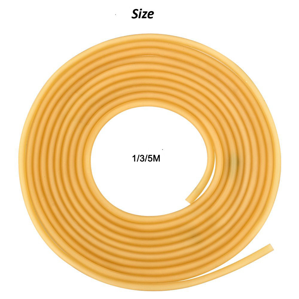 2 X 5.5mm 1.8x 4mm 4x 6mm Natural Latex Tube Slingshot High Elastic 1/3/5M Tubing Band  Slingshot Hunting Catapults Sling Rubber