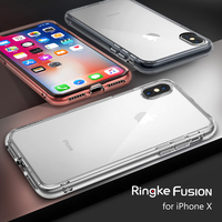 Originele Ringke Fusion Clear PC Back Flexibele TPU Rand Schokabsorptie Valweerstand Case Voor iPhone X
