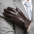 Top Quality Genuine Leather Gloves For Men Thermal Winter Touch Screen Sheepskin Glove Fashion Slim Wrist Driving EM011