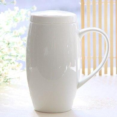 d30377a723a 700ml Bone china mug plain white porcelain lids tea mug with lid beer mug  funny belly designed