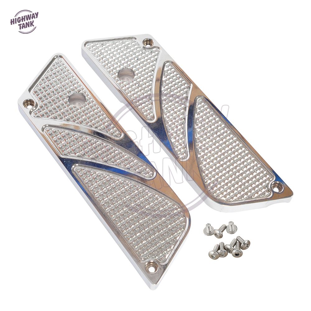 Chrome Motorcycle Hard Saddlebag Latch Side Covers case for Harley Touring FLT FLH 1993-2013 motorcycle saddlebag bracket support bar for kawasaki vulcan vn900 solid steel chrome 24cm 2pcs high quality motorcycle covers