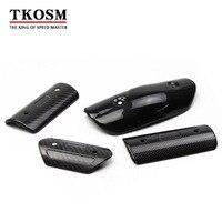 TKOSM Motorcycle Exhaust Muffler Cover Carbon Fiber Color Protector Heat Shield Cover Guard TMAX530 CB400 CBR300