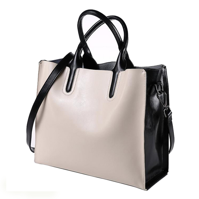 Amor Square Leather Tote Bag Genuine Leather Bag Shoulder Messenger Bag
