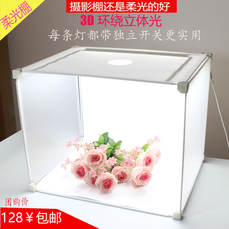 цены mini portable led photography photo studio tent kit light box 35X45X35CM Folding Portable Mini Photo Studio Light Tent CD50