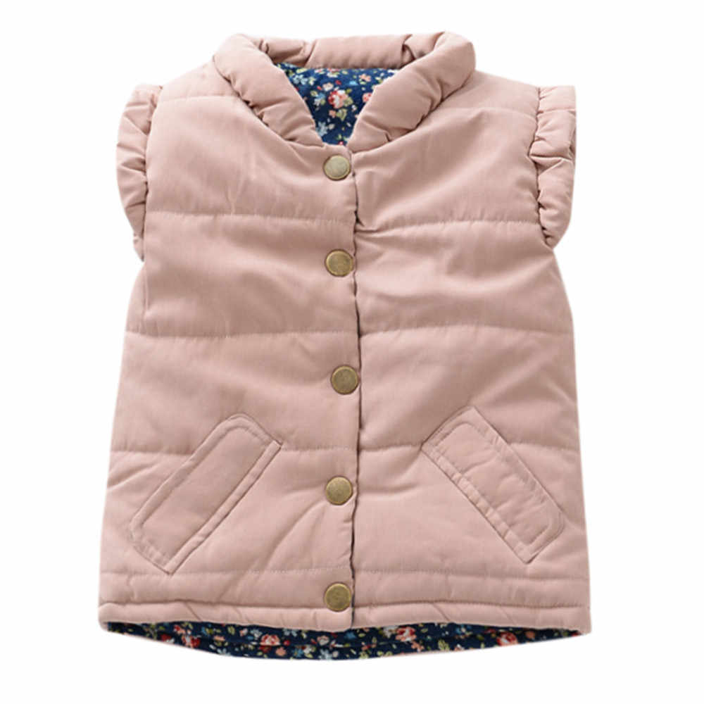 c1b80b769 TELOTUNY Toddler Baby Girls winter warm vest cotton vest Sleeveless Solid  Tops Outerwear Waistcoat Outfit Clothes
