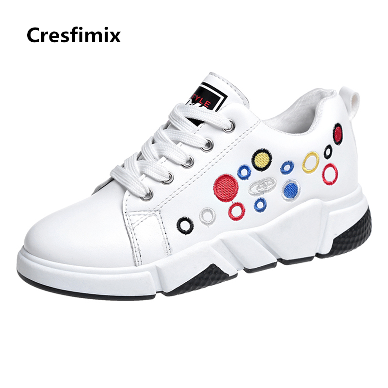 Cresfimix zapatillas de mujer women spring and autumn lace up white shoes lady casual ins popular outside shoes woman cool shoes cresfimix zapatos de mujer women casual plus size retro flat shoes lady leisure spring