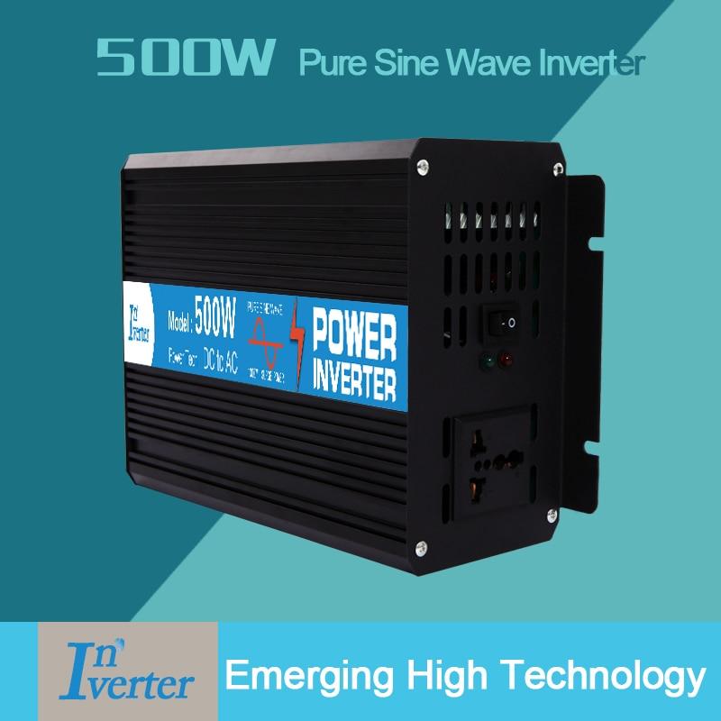 LED Display 500W Off Grid Pure Sine Wave Power Inverter, 1000w Peak Power Inverter, DC12V 24V 48V TO AC 220/230/240V