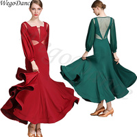 beautiful long sleeves modern dance dress ballroom dance competition dresses woman freeshipping