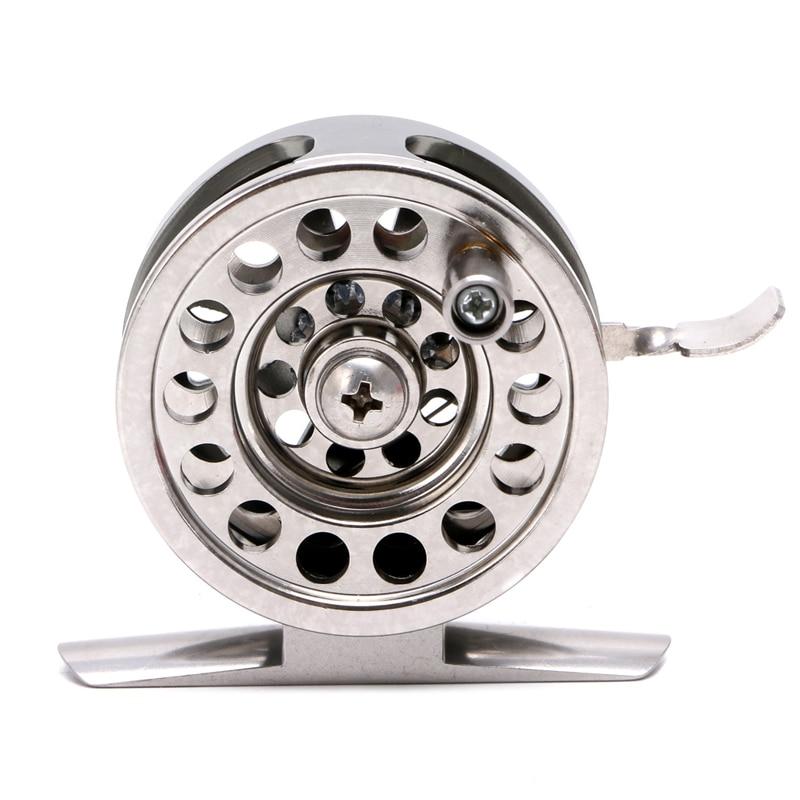 Image 3 - New Fishing Metal Coils Centrifugal Drop Round Aluminum Alloy Bearings Fly Fishing Wheel CoilFishing Reels   -