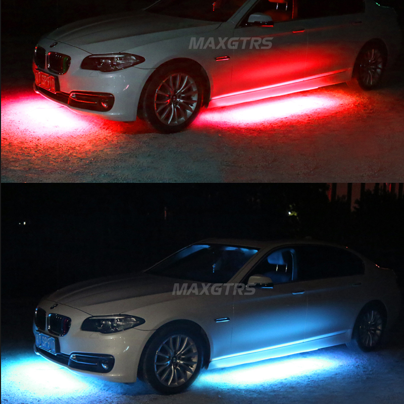 neon licht auto verboden 4x auto rgb led strip under car flexible glow underbody system