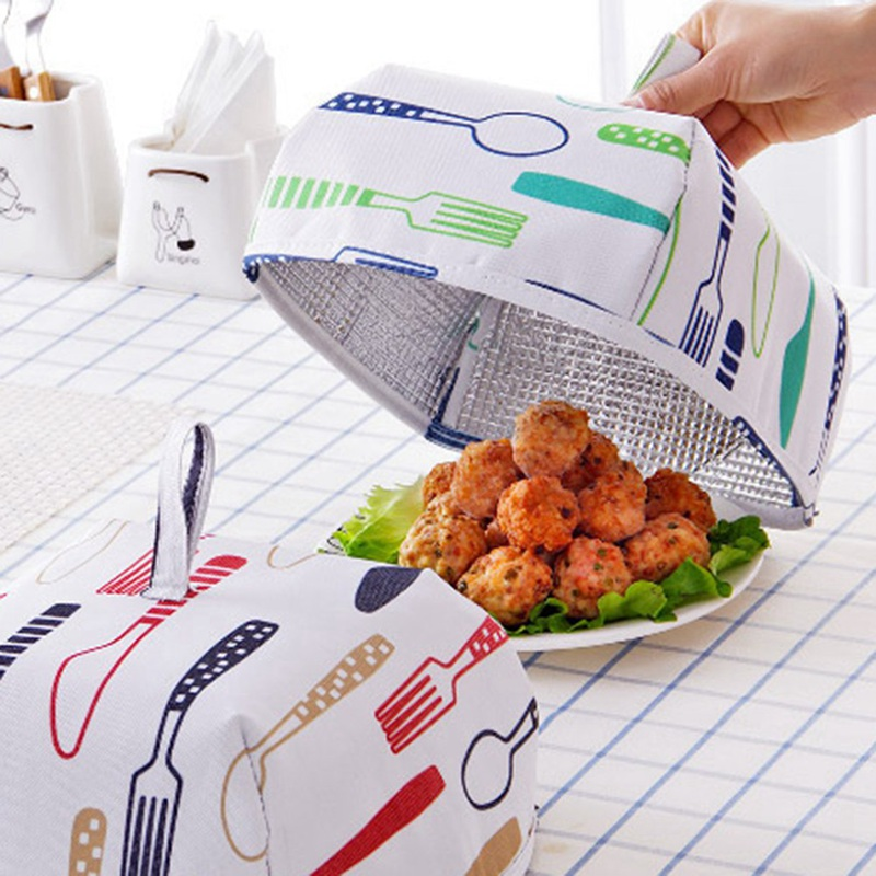 Foldable Food Covers Keep Warm Hot Aluminum Foil Cover Dishes Insulation Covers Dust-Proof  Mosquito Flies Away Kitchen Tools
