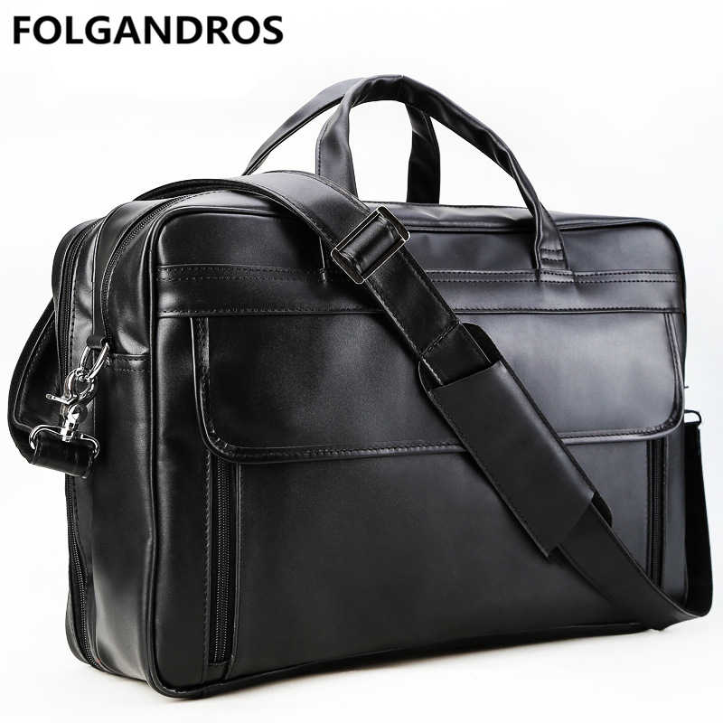 72702fe548e6 Men s Genuine Leather Briefcase Large 17