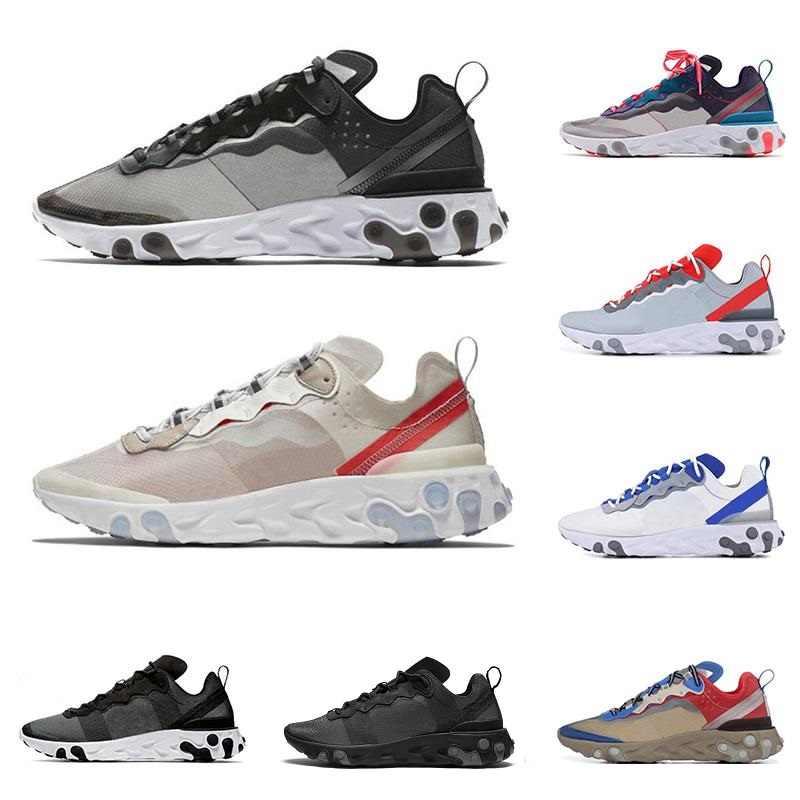 2019 react element 87 55 running shoes men women Anthracite Light Bone triple black white RED ORBIT trainers sports sneaker