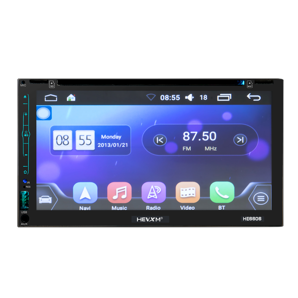 Image 5 - HEVXM HE6606 6.95 inch vehicle navigation integrated machine Android GPS navigation DVD player large touch screen WIFI-in Vehicle GPS from Automobiles & Motorcycles