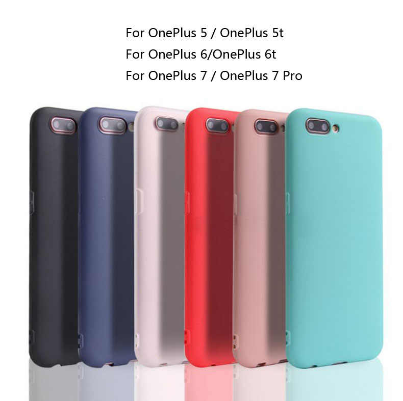 OnePlus 5 5T OnePlus 6 6T Silicone TPU soft case For One Plus 5 5T 6 6T Ultra thin Clear and Matte Solid OnePlus 6 T Cover case