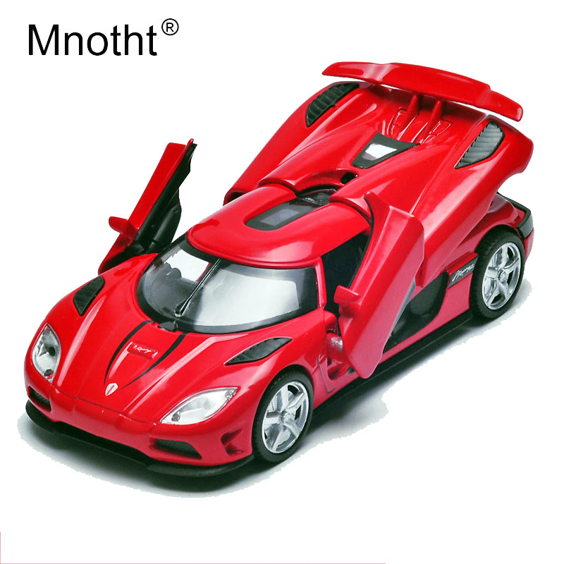 Mnotht 1/32 Mini Alloy Koenigsegg Car Model Pull Back Sounds Lights Diecast Car Model Toy Vehicles mo ...