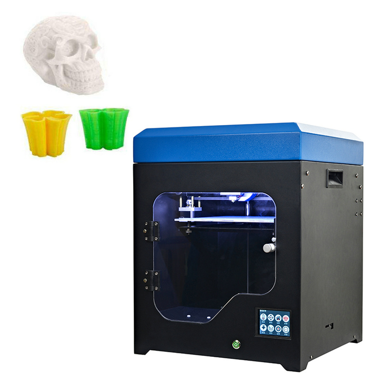 US $494 4  Multifunctional Small Size High End Customized Digital 3D  Printer with Touch Screen Power off Resume Dual Nozzel Hotbed New-in 3D  Printers
