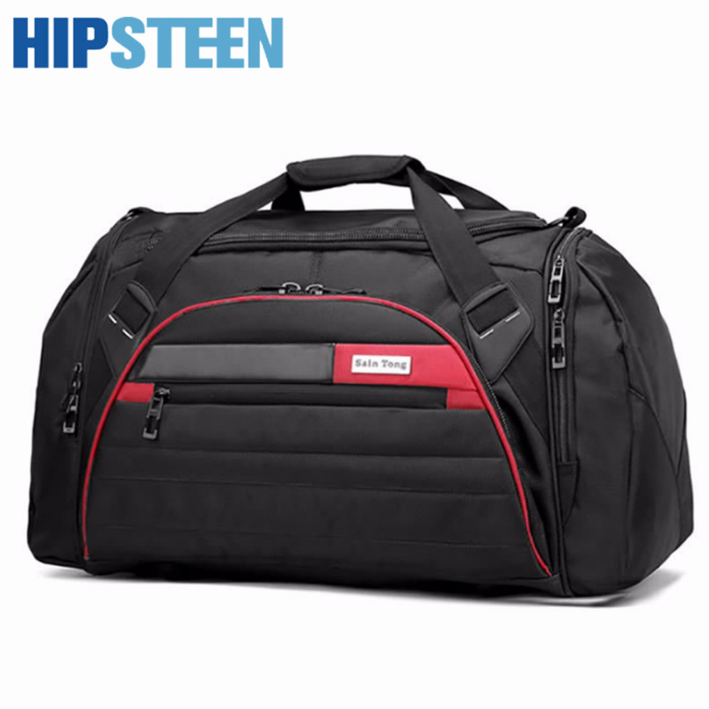 HIPSTEEN New Bags Fashion Men Women Travel Bags With Large Capacity Portable Folding Handbag Male Travelling Handbags Bag Black trico 30 180 wiper blade 18 pack of 1