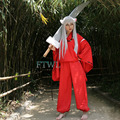 Hot New Animation Inuyasha Cosplay Costumes Anime Costume for party (Coat+Pant+Necklace+Bracelet) S M L XL