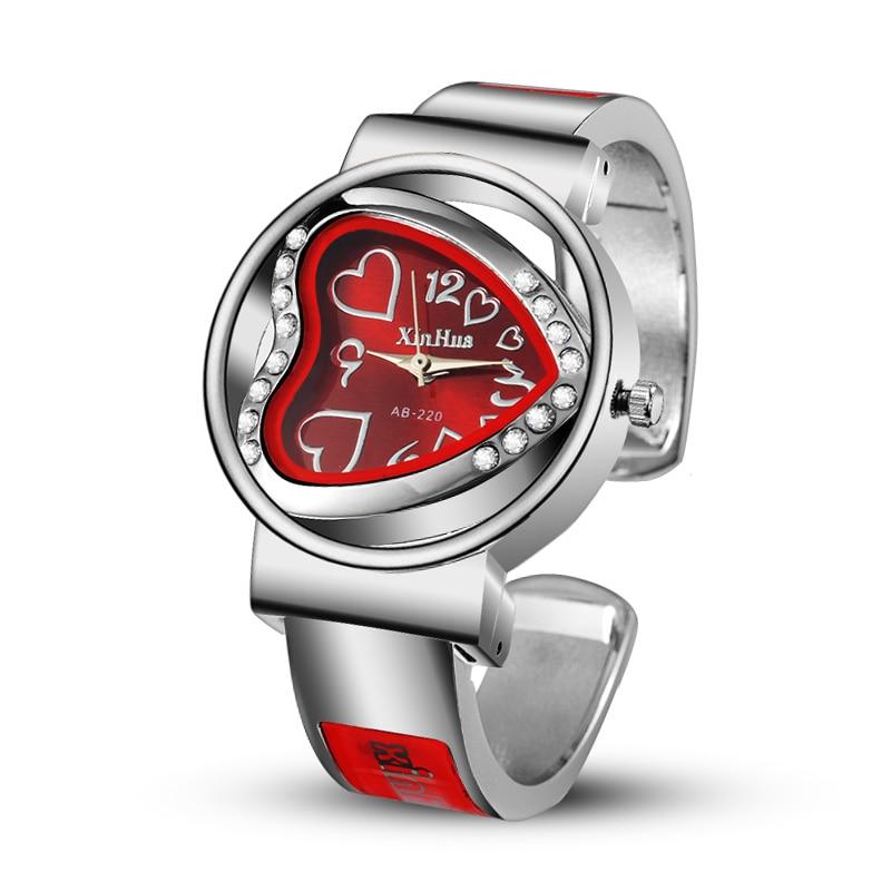 Top Luxury 2019 Women Heart Watch Women's Bracelet  Ladies Dress Watches Clock Male Wrist Watchesgrand Les Montres Femme