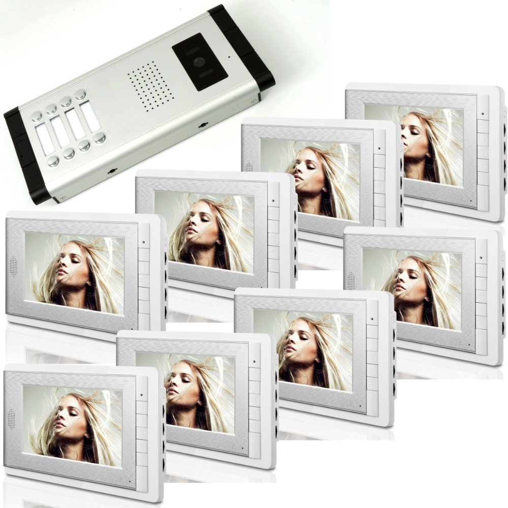 7 Inch Wired Video Door Phone With 10 Monitor
