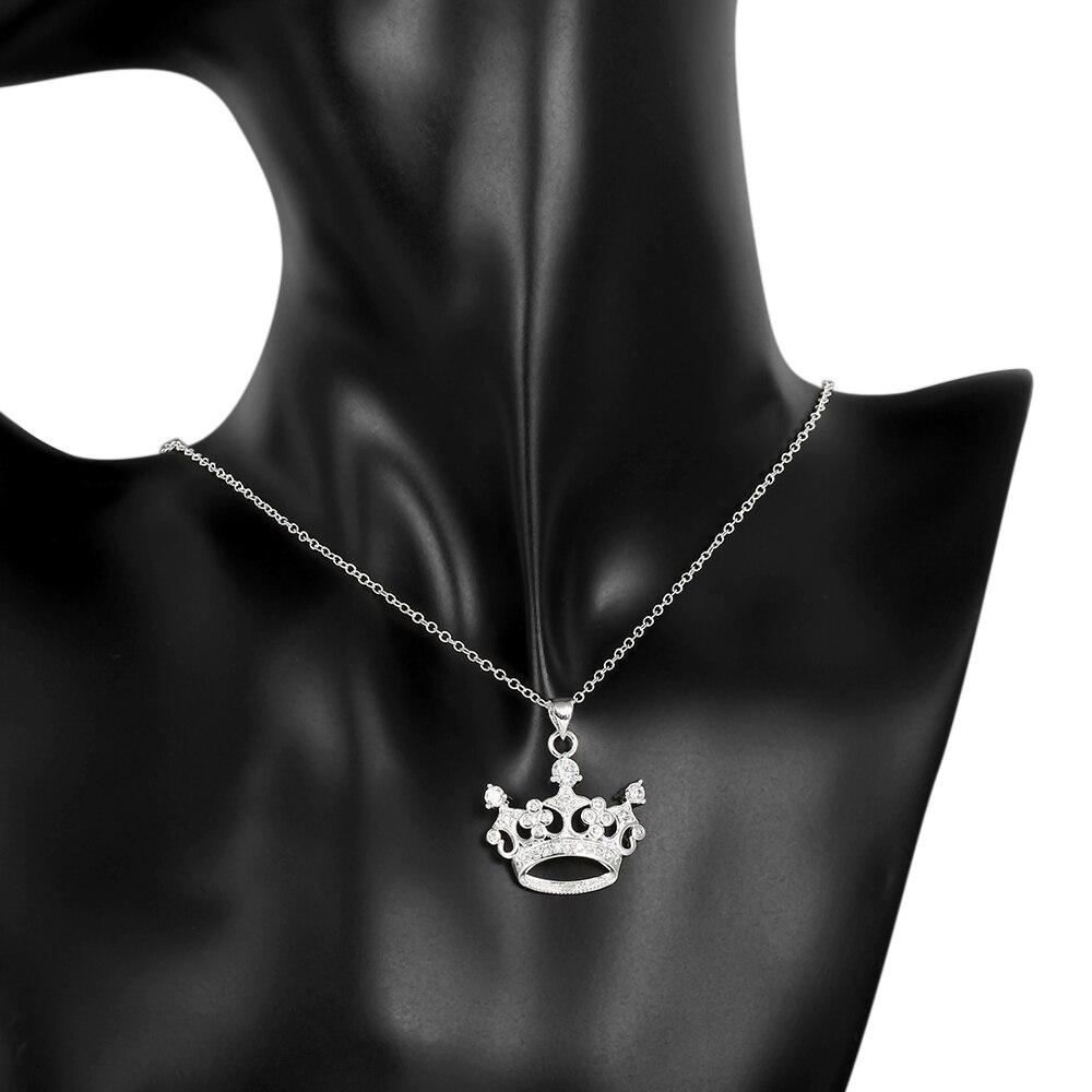 34f7b7e74974 Visisap corona collares para las mujeres de la Reina cubic zirconia colgante  de joyería hermosa fascinante aniversario regalos collar VLKN743 en Collares  ...