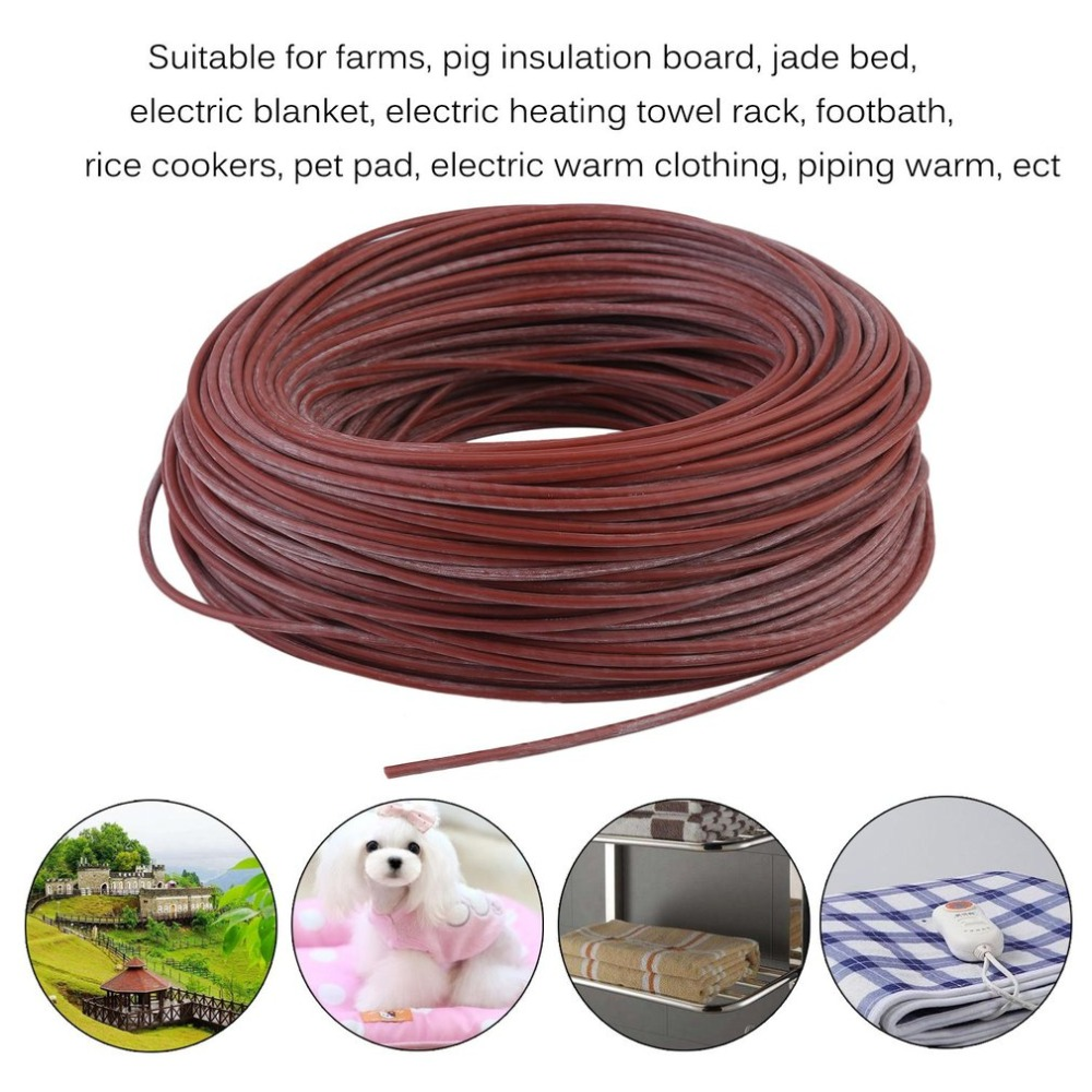 Portable Infrared Radiant Heating Cable Silicone Carbon Fiber Wire Electric Heater Hotline For Floor Heating Russia Warehouse electric heater carbon fiber heater 1610w floor wall hanging warmer for home infrared heating device xh 175