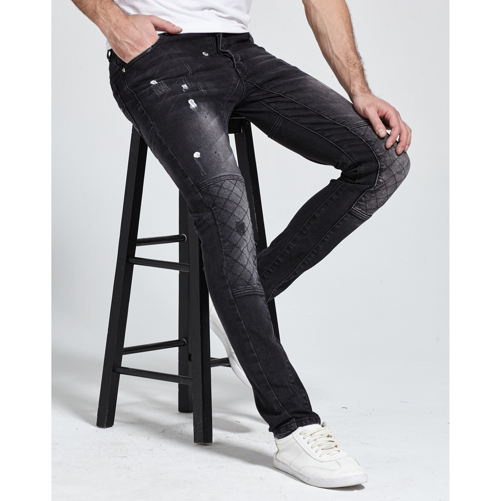 2017 New Men   Jeans   Fashion Strech Biker   Jeans   Design Good Quality   Jeans   H1701