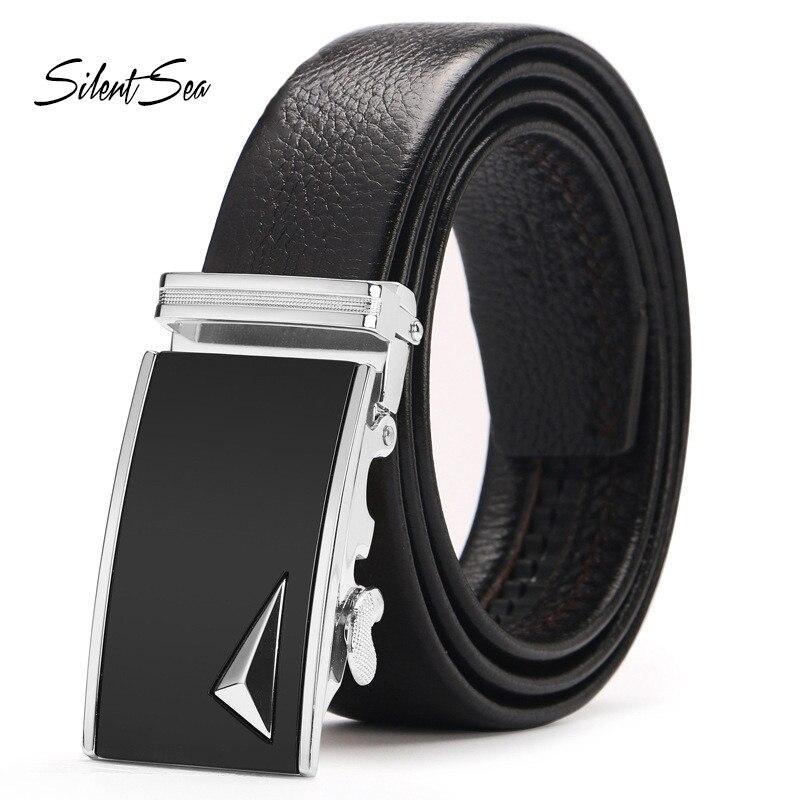 Fashion Men Leather Automatic Buckle Belts Waist Strap Belt Waistband for Men